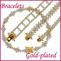 gold-plated bracelets