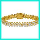 cz handmade silver bracelets