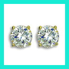 silver earrings with semi precious stones