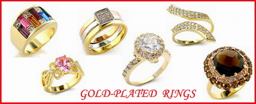 wholesale gold plated rings