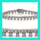 WHOLESALE STERLING SILVER 3 STONE CZ TENNIS BRACELET