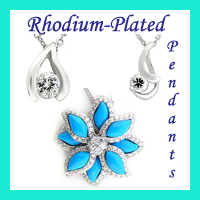 wholesale rhodium pendants