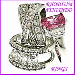 rhodium plated rings