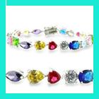 cz silver bracelets