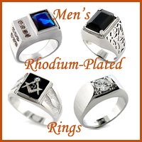wholesale rhodium plated rings