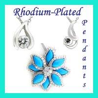 wholesale rhodium pendants